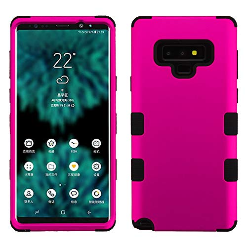 Protector Shield Magenta Case (TUFF Hybrid Series Samsung Galaxy Note 9 Case, Military Grade Drop Tested [MIL-STD 810G-516.6 Certified] Protector Cover Case and Atom Cloth for Samsung Galaxy Note 9 - Hot Pink)