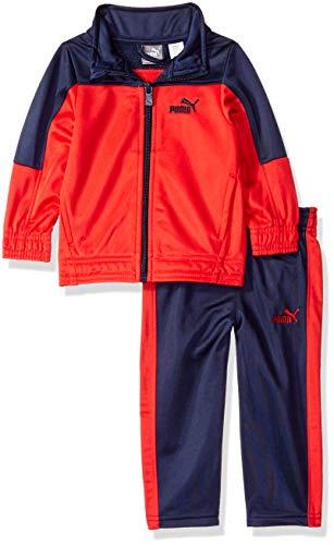 (PUMA Baby Boys' Tricot Pant Set, Ribbon red 12M)