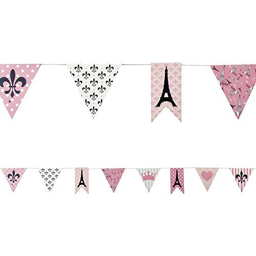 [Fun Express Paris Party Paper Pennant Banner Novelty, 7'] (White Theme Party Costumes Ideas)