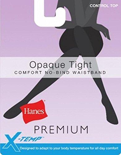HANES X-TEMP WOMENS TIGHTS PREMIUM CONTROL TOP 2-PK (X Large, Black)