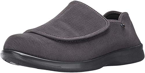 Propet Men's Cush N Foot Slipper, Slate Corduroy, 9.5 3E US