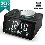 ANJANK Small Digital Alarm Clock Radio - FM