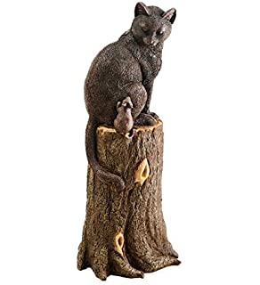 Amazoncom Plow Hearth Cat and Mouse Outdoor Garden Decor