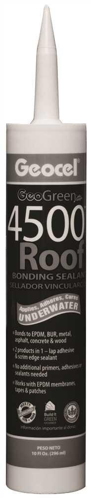 GEOCEL GC55103 4500 Roof Bonding Sealant, 10.1 Ounce Cartridge, Black