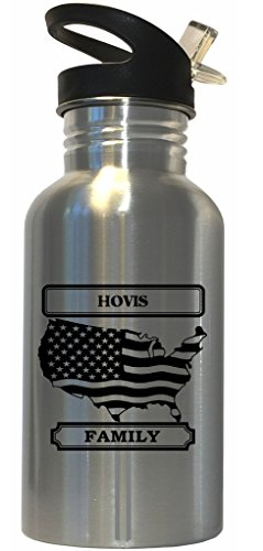 hovis-family-name-american-flag-stainless-steel-water-bottle-straw-top