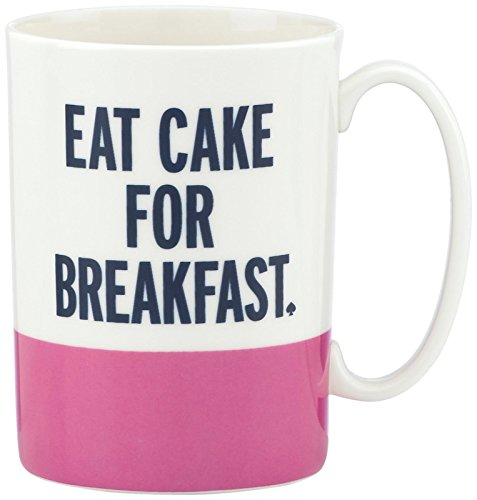 kate spade new york Things We Love Eat Cake for Breakfast Mug