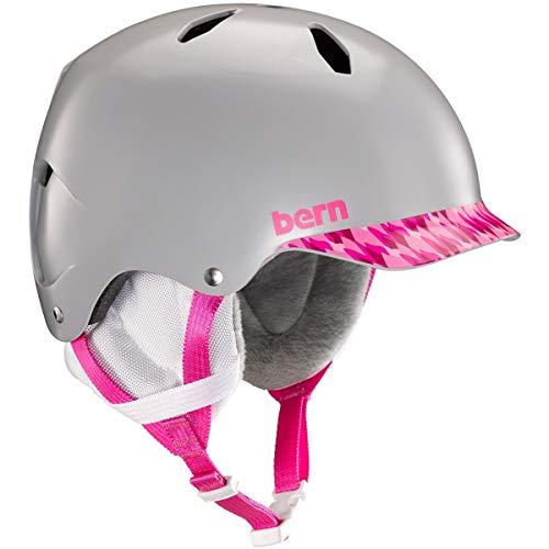 BERN - Youth Bandito Snow Helmet 2019, Satin Grey/Pink, M/L