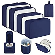 Newdora Packing Cubes, 8 PCS Travel Luggage Organizer Set Durable Travel Essentials Bags for Clothes Shoes Cosmetics…