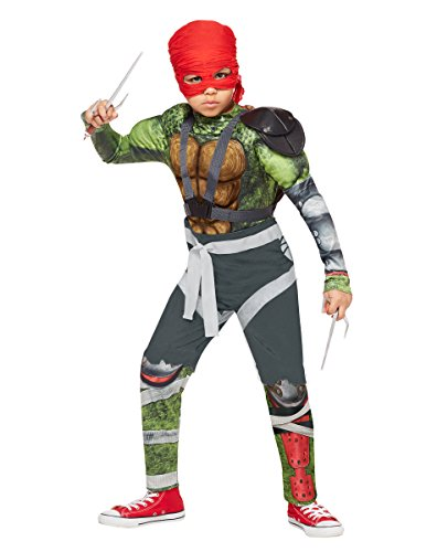 Raphael Ninja Turtle Toddler Costumes (Kids Raphael Costume Teenage Mutant Ninja Turtles: Out of the Shadows,Green,M)