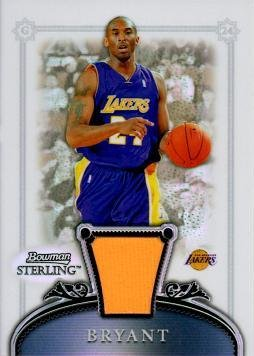 2006 / 07 Bowman Sterling Refractor #10 Kobe Bryant Game Worn Jersey Basketball Card - Only 199 made!