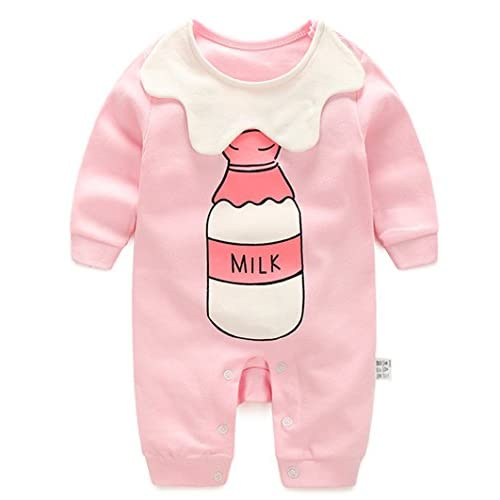 Ding Dong Baby Newborn Boys Girls Cotton Lapel Romper