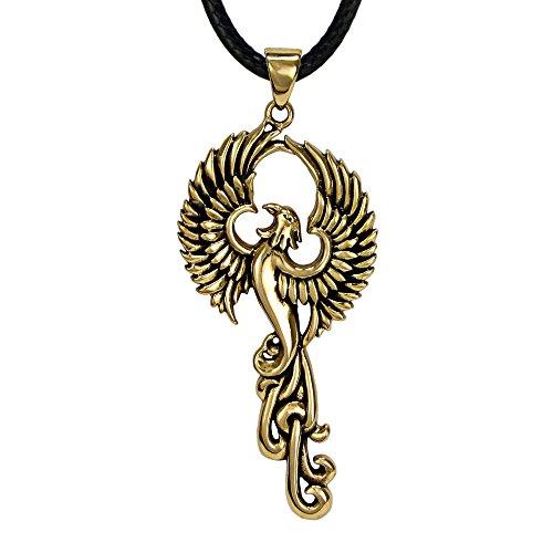 Bronze Rise of the Phoenix Pendant Necklace