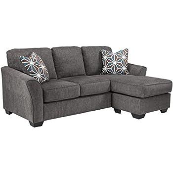 Benchcraft Brise Contemporary Sofa Chaise   Slate Grey