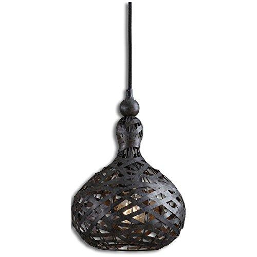 Uttermost 21975 Alita Industrial 1 Light Mini Pendant, Black -
