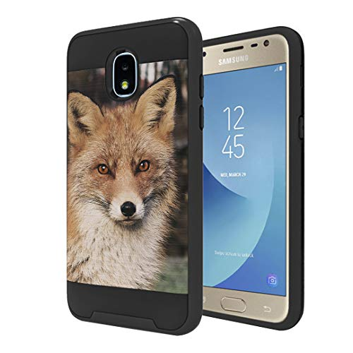Moriko Case Compatible with Galaxy J3 TOP [Hybrid Slim Drop Protection Shockproof Heavy Duty Protector Black Case Cover] for Samsung J3 (2018) J3 Orbit J3 Achieve - (Fox)