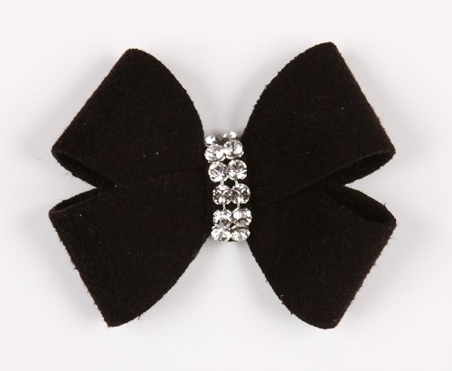 Nouveau Barrette (Nouveau Bow Ultrasuede Dog Hair Bow (SM (2