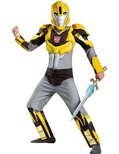 Bumblebee Animated Classic Muscle Costume, Medium (7-8) -