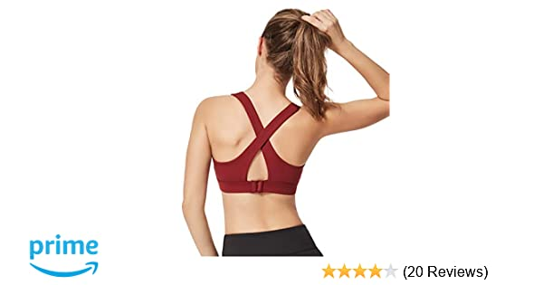 f60daff5f7eca Yvette Women s Criss Cross X-Back Sports Bra with Elastic Straps for Yoga  Gym Workout Pilates at Amazon Women s Clothing store