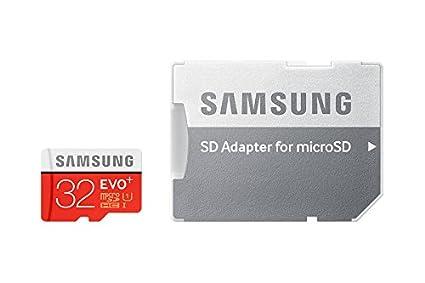Samsung EVO Plus - Tarjeta de Memoria microSD de 32 GB (Velocidad hasta 80 MB, Class 10, Resistente al Agua)