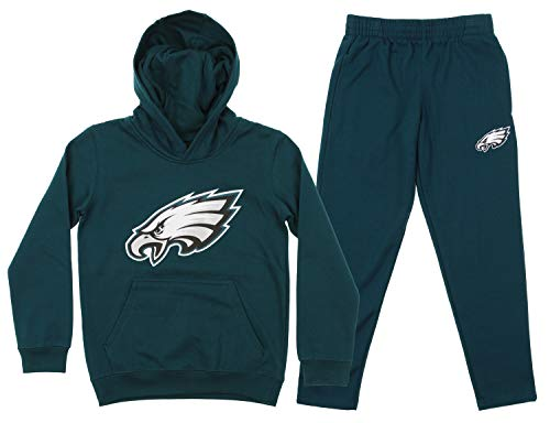 (Outerstuff NFL Youth Team Color and Fleece Hoodie Set, Philadelphia Eagles Extra 18/20)