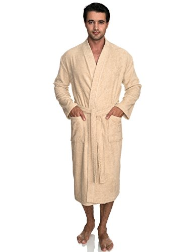 TowelSelections Men's Robe, Turkish Cotton Terry Kimono Bathrobe Medium/Large Angora