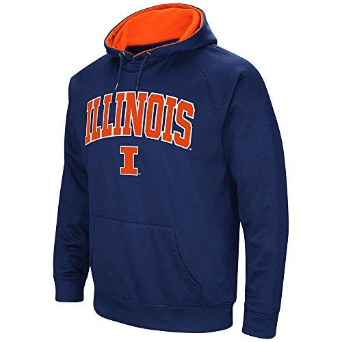 Illinois Fighting Illini Fleece (Mens Illinois Fighting Illini Fleece Pull-over Hoodie - L)