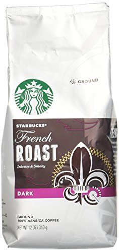 Starbucks French Roast Dark Roast Ground Coffee, 12-Ounce Bag (Pack of 6)