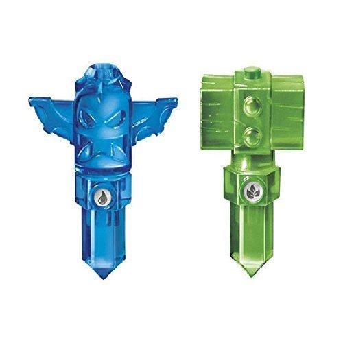 Lot of 2 Traps ~ Skylanders Trap Team Green Life Hammer Trap & Blue Tiki (Team Hammer)