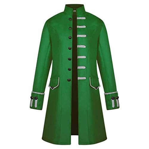 Sunyastor Mens Vintage Tailcoat Jacket Long Steampunk Formal Gothic Victorian Frock Buttons Coat Uniform Costume for -