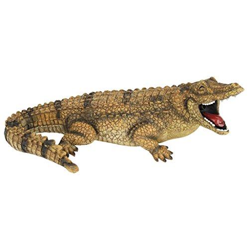 Design Toscano Striker the Alligator Spitter Piped Statue by Design Toscano