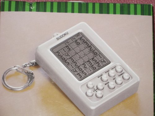 (SUDOKU- GAME ON A KEY CHAIN - GAME SIZE 2 1/2X 1 1/2 SILVER AND LED SCREEN by Target)