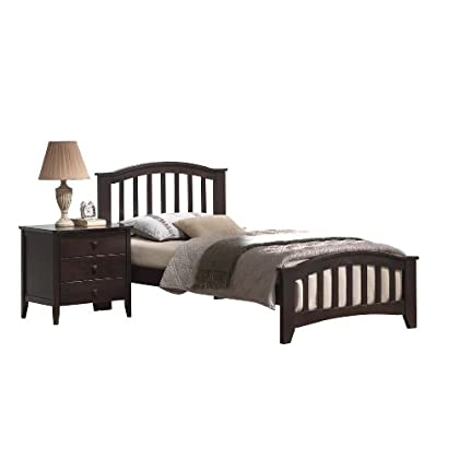 Image of ACME San Marino Dark Walnut Twin Bed Home and Kitchen