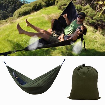 Camp Bedding Hammock & Accessories - IPRee Portable 270x140CM Camping 210T Nylon Double hanging Swing Bed