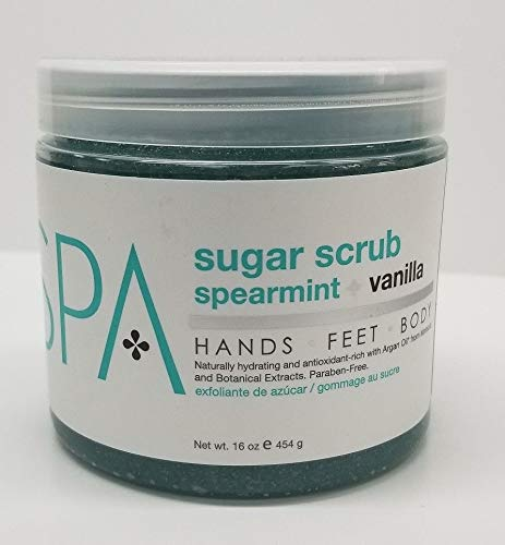 Bio Creative Lab Spa Sugar Scrub, Spearmint plus Vanilla, 16 Ounce by Bio Creative Lab