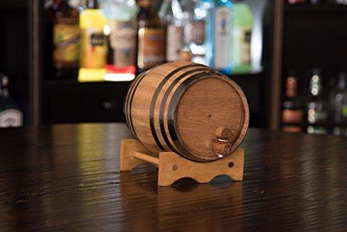 Premium Charred American Oak Aging Barrel - No Engraving (2 Liter) by Red Head Barrels (Image #2)