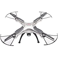 MKT X5HW Syma RC Quadcopter Drone With Wifi Camera Remote Control Aircraft 2.4G 4CH 6Axis Gyro Headless 360 degree 3D Rolling Eversion CF Mode Hover Function (Silver)