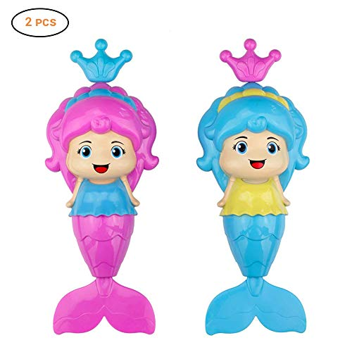 Baby Bath Clockwork Toy, Mermaid Wind Up Floating Water Toys for Kids Toddlers – Swimming Pool Beach Bathing Time Bath…
