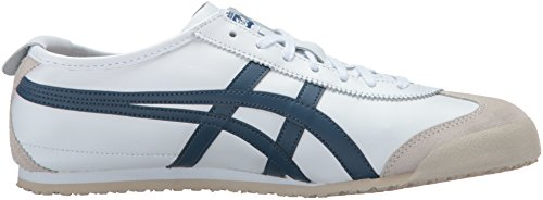 Onitsuka Tiger Mens Mexico 66 Fashion Sneaker White / Poseidon