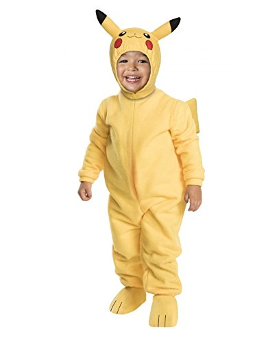 Fun Halloween Go Family Costumes (Rubie's Costume Pokémon Pikachu Toddler)
