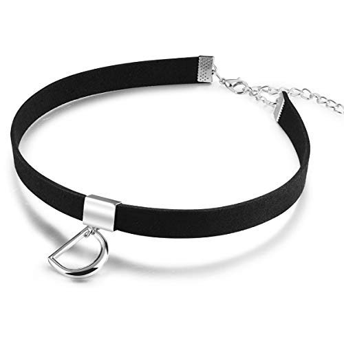 (Audrey Ryan Black Choker Necklaces for Women Gothic Choker Necklaces Letter D Ring Choker D-Ring Collar Punk Goth Chain Necklace Mother Daughter Sister Choker Sexy Girlfriend Wife )