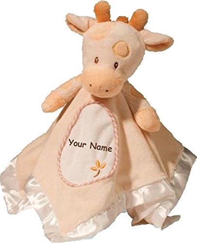 - Personalized Spotted Giraffe Lil Snuggler Baby Snuggle Blanket Gift for Baby Girl or Baby Boy - 13 Inches