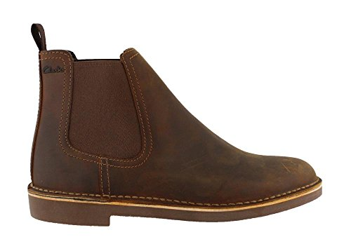 Clarks Suede Boots - CLARKS Men's Bushacre Hill Chelsea Boot, Beeswax Leather, 9.5 M US