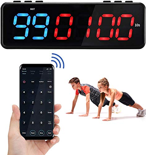 4YANG Fitness Training Timer, Magnetische Interval Timer met Bluetooth APP Control, Wall Gym Timer met 11 Timing Modes…