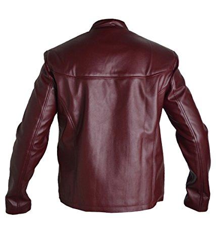 Homme Daredevil Mode Cuir Pour Classyak Sheep Burgundy Véritable 8qwp5wI