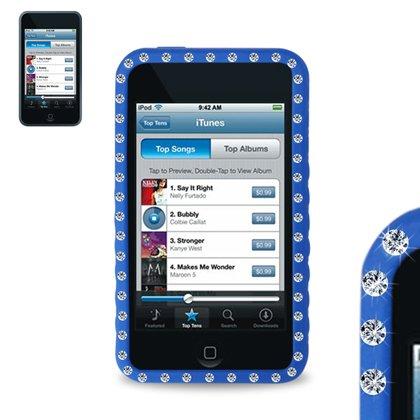 Reiko Diamond Coque en silicone pour iPod Touch 3 g-Bleu marine