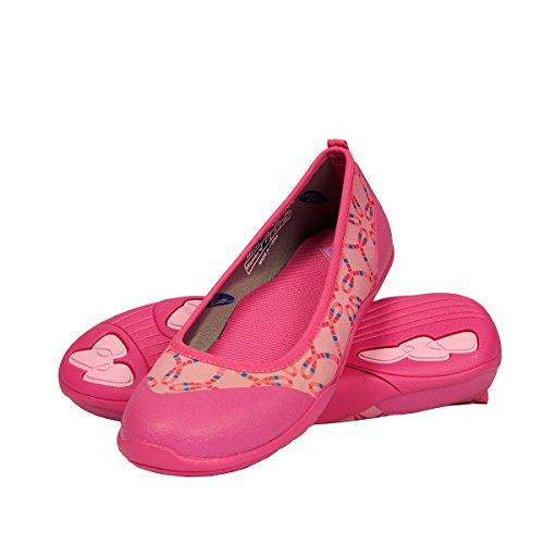 Muck Boot Women's Breezy Cool Ballet Casual Flats, Pink Mosaic Rubber, 7 - Rain Skimmers