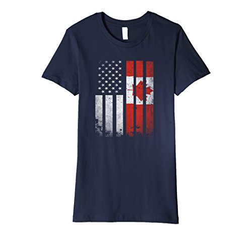 womens-canada-flag-t-shirt-canadian-america-flag-vintage-shirt-large-navy