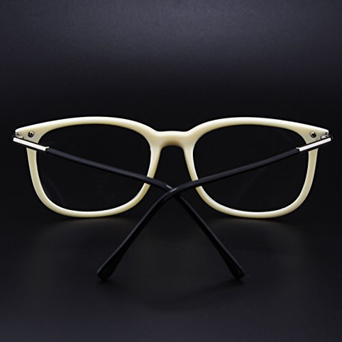 branches à CGID fashion à Black monture d'écaille hautement transparents Lunettes verres CN79 métalliques à Beige qwXxwzZU