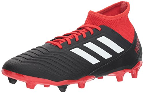 Soccer Firm 14 Shoes Ground - adidas Men's Predator 18.3 Firm Ground Soccer Shoe, Black/White/red, 10.5 M US