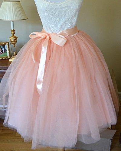 efeba9029 SaiDeng Faldas Tul De Fiesta para Mujer Señora Faldas Plisada De Hilo De  Moda